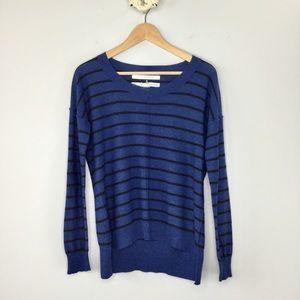 Max Studio Merino wool dolman striped sweater